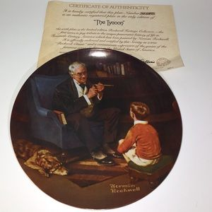 Norman Rockwell Collector Plate - The Tycoon